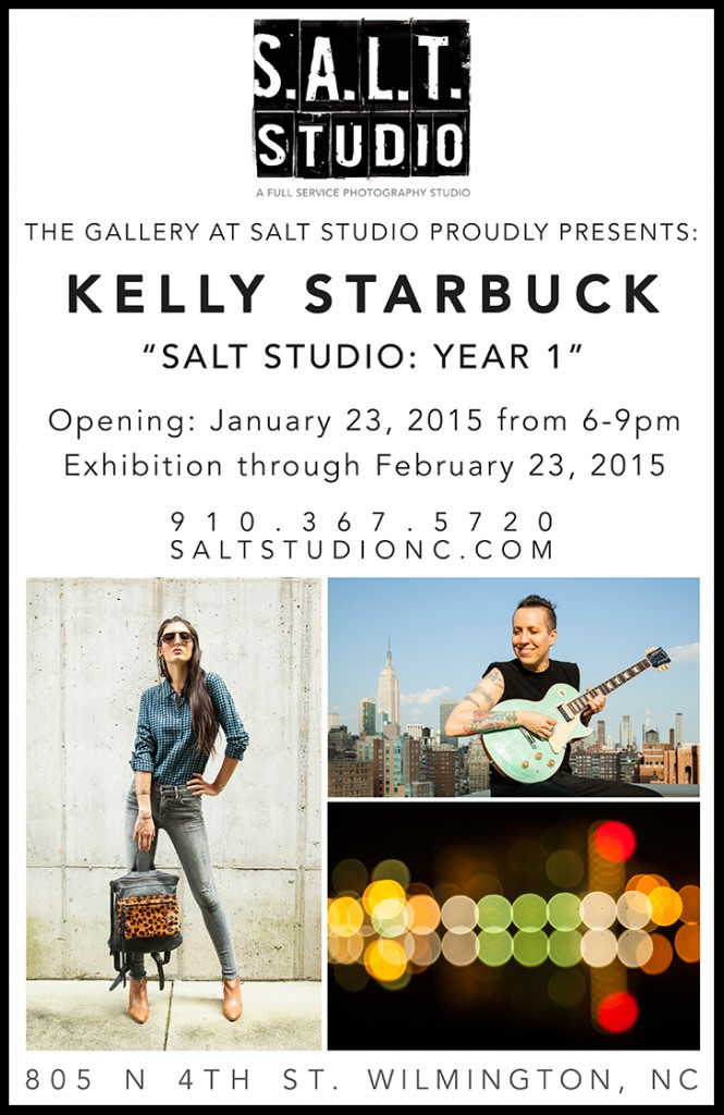 "The Gallery at SALT Studio is proud to present Kelly Starbuck's solo photography exhibition, ""SALT Studio: Year 1."" A look back at the artist's commercial, editorial, private client and fine art photography created during the inaugural year of SALT Studio Photography."