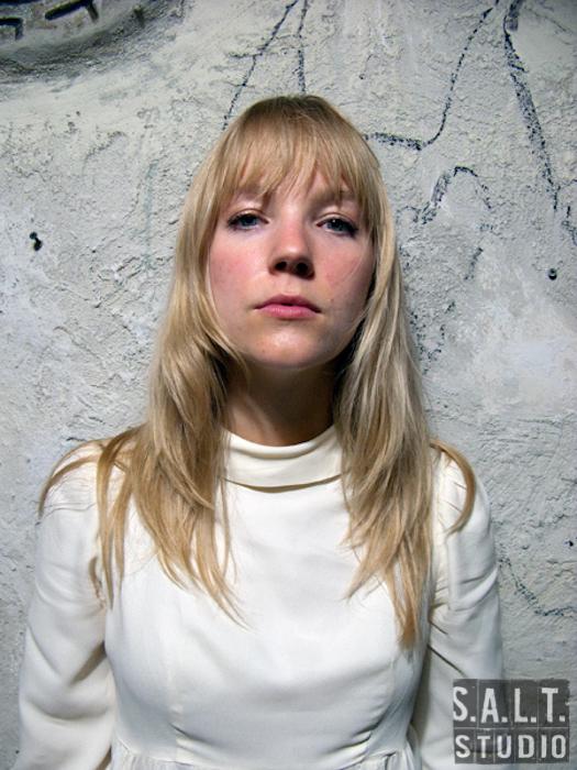 Lauren Langer Larson of UME at Glasslands, Brooklyn, NY. Musician portrait photograph copyright Kelly Starbuck for SALT Studio Photography, Wilmington, NC.
