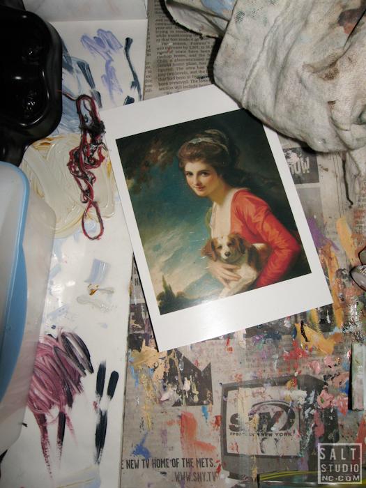 Lucy Capehart's studio